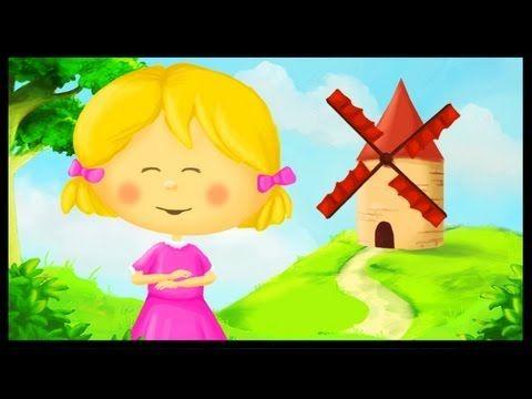 Tourne tourne petit moulin youtube chanson pinterest - Petit escargot porte sur son dos paroles ...