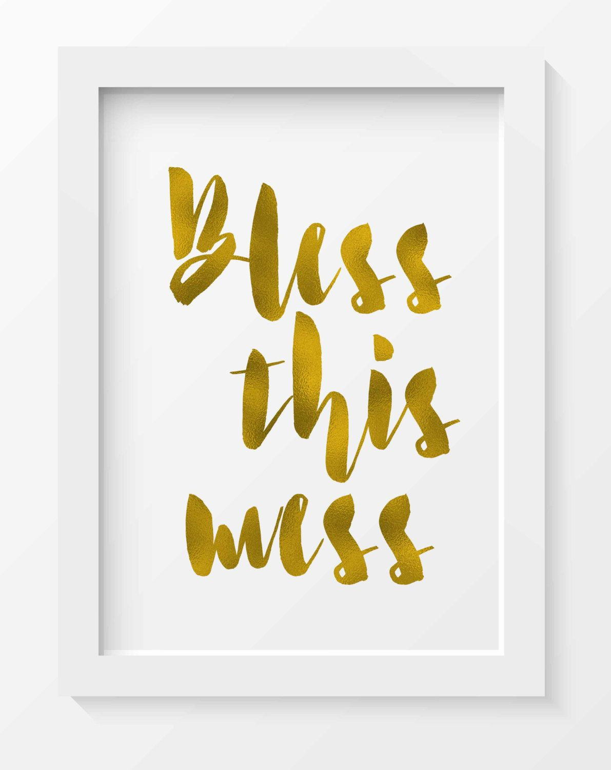 Bless this mess print, Bless this mess, Home decor, Wall art ...