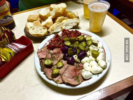 roast beef antipasto plate