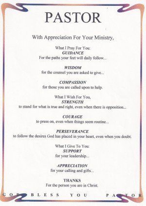 Funny Pastor Appreciation Poems   First Lady   Pastor anniversary