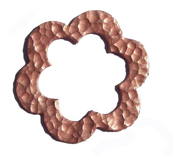 Hammered Copper Flower Blank Cutout Enameling by SupplyDiva, $5.50