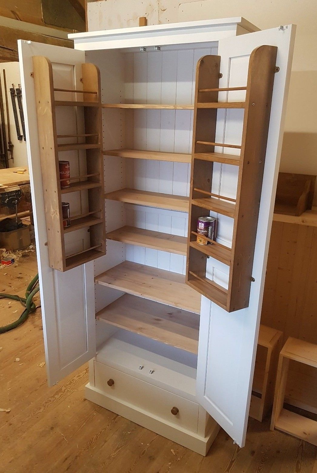 Cool Larder Pantry Cupboard With Spice Rack Drawer 80Cm Wide Download Free Architecture Designs Aeocymadebymaigaardcom