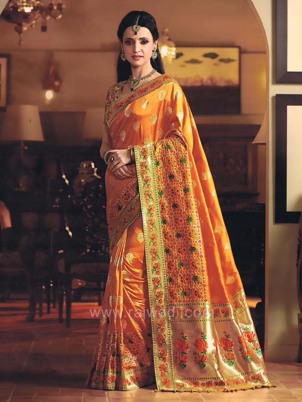 393695d37a772 Sanaya Irani Wedding Saree in Mustard Yellow with Tassels   rajwadi ...