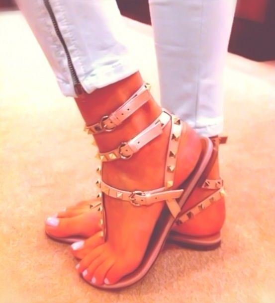 87cf6bf44 Cute peach colored short gladiator sandals | My Style | Shoes, Crazy ...