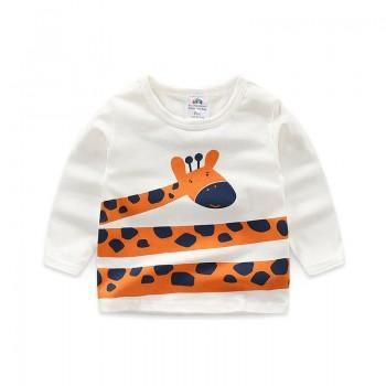Cute Long Sleeves Giraffe Top for Toddler Boy and Boy AW 19