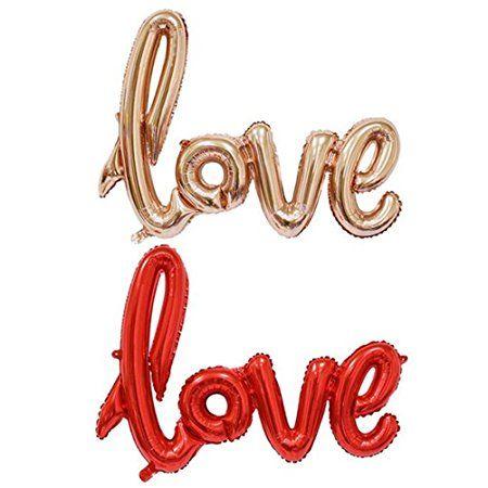 NUOLUX LOVE letter,LOVE Luftballons 41 Zoll Mylar Ballons für die ...