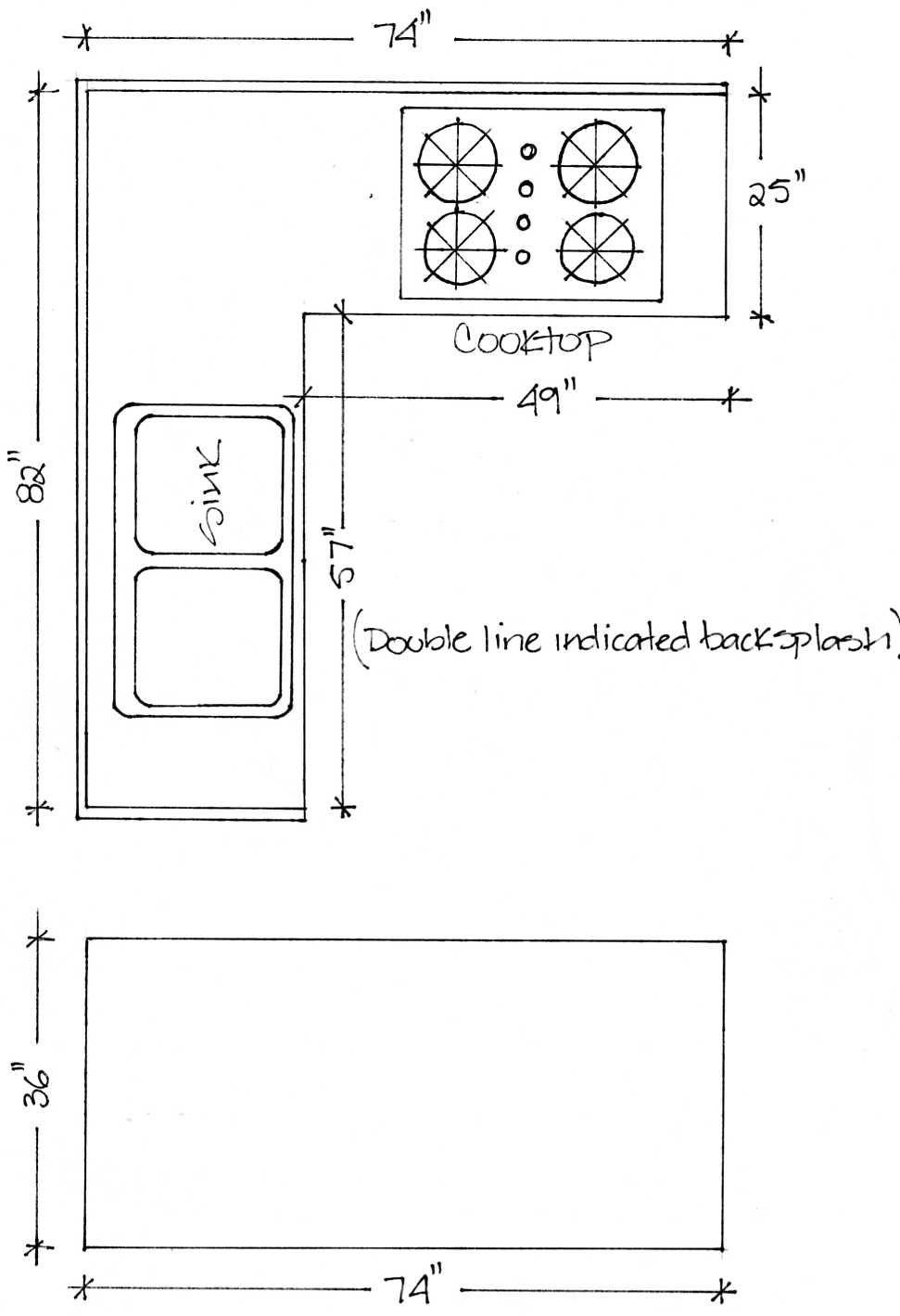 Kitchen Countertop Dimensions Standard Kitchen