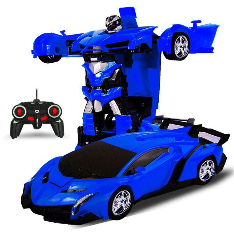 UK Kids Toy Gesture Sensing Remote Control Robot One Button Transformation Car