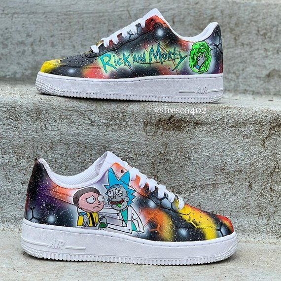 meet outlet 100% quality Rick And Morty Custom Shoes in 2019 | Hype shoes, Custom ...