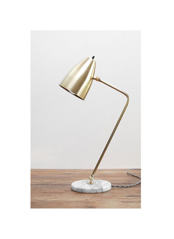 Modern White Marble And Solid Brass Table Lamp Adjustable Reading Bedside Light Lamp Bedside Lamp Modern Table Lamp Modern Table Lamp