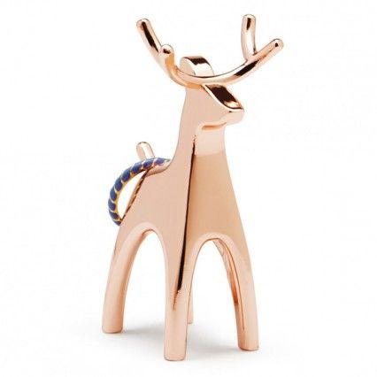 Umbra Anigram Ring Holder Copper Reindeer