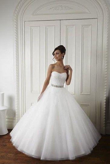 Vestiti Da Sposa Bianchi.Abito Bianco Senza Spalline Stile Anni 50 Abiti Da Sposa