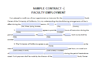 Faculty Employment Agreement Employment Faculties Contract Agreement