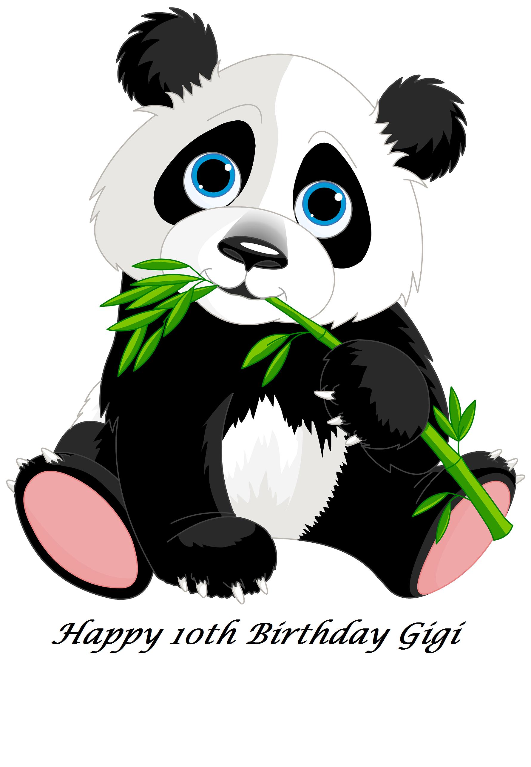 Cute Panda Bear Edible Cake Topper Cute Panda Cartoon Cartoon Panda Panda Drawing