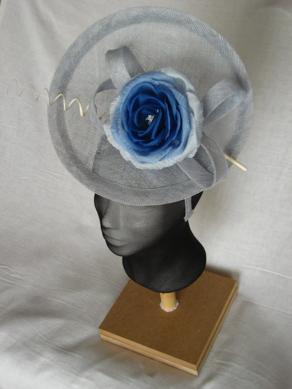 headpiece with silk handmade flower