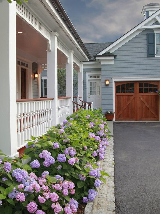 wrap porch driveway landscaping