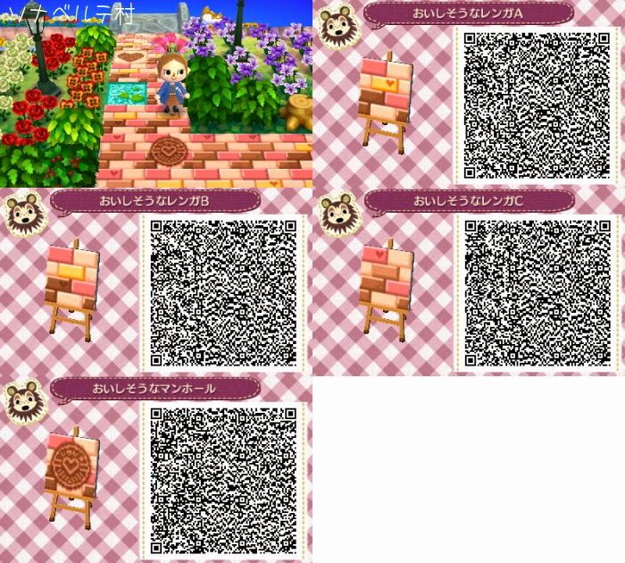 Codigos qr suelos carteles paneles animal crossing Boden qr codes animal crossing new leaf