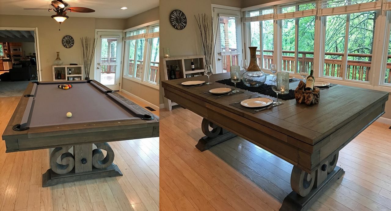 Dining Top 7 Foot Pool Table Rustic Farmhouse Look Is Sure To Be The Centerpiece Of Any Game Room Free Shipp