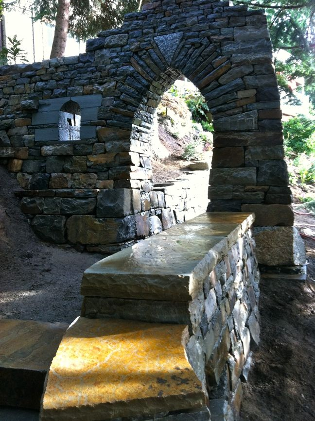 Hardscaping Dry Garden Landscaping Ideas : Stone arch for your garden hardscaping dry walling