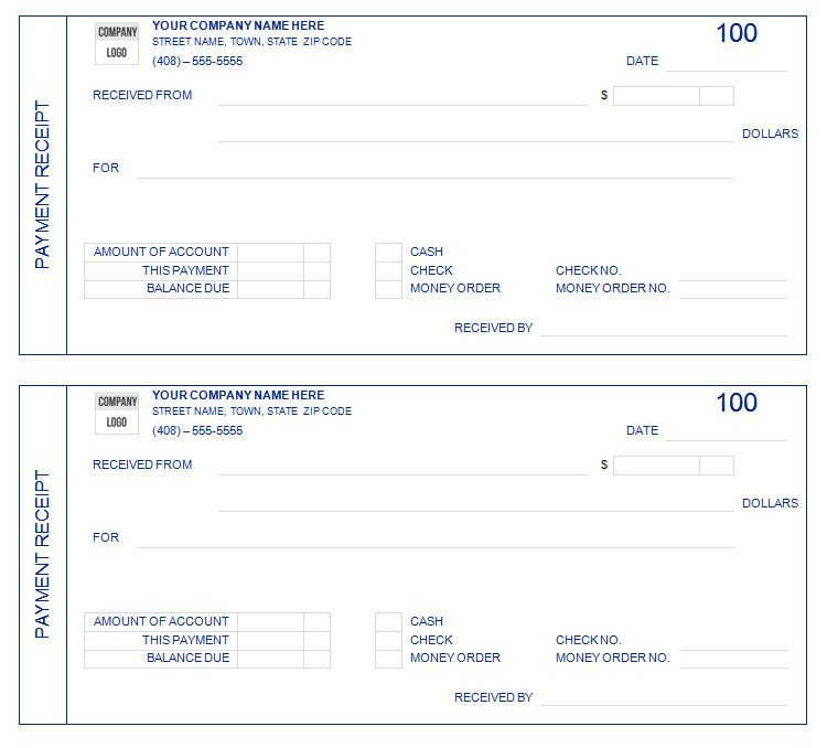 Sample Payment Receipt Form002 The Proper Receipt Format for – Payment Receipt Book