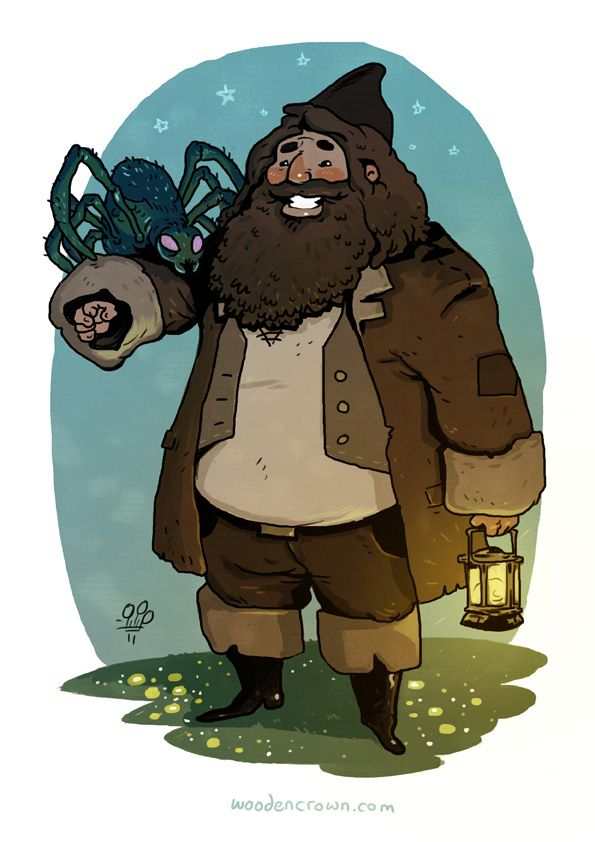 The Wooden Crown. Comics and Illustrations by Michael Dialynas.: Hagrid the Beast Charmer