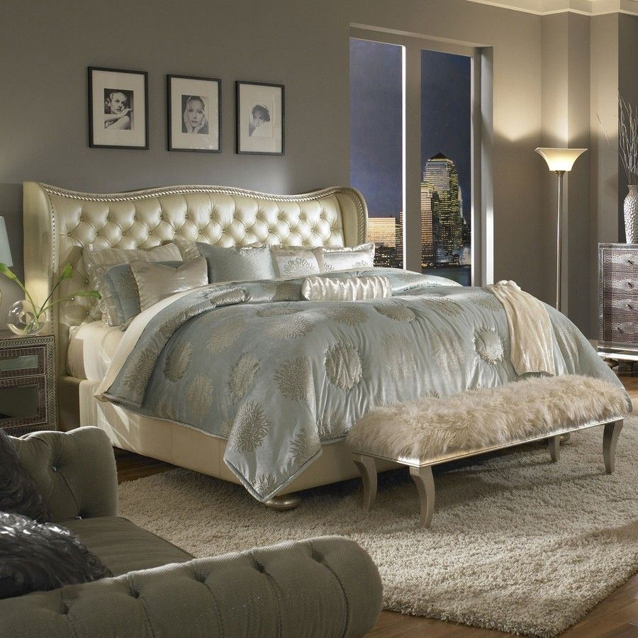 Angelina Cream King Bed