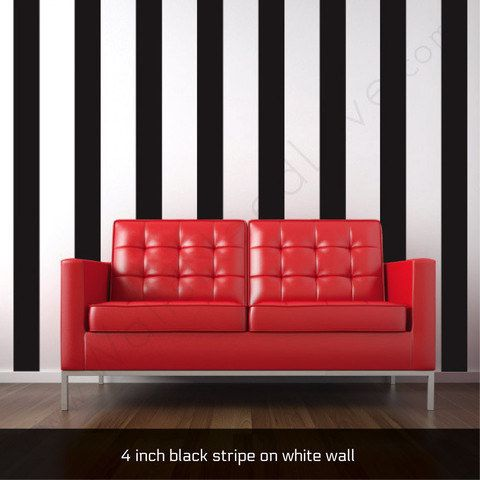 Skip The Painstaking Painters Tape And Put Up Striped Wall Decals - How do you put up a wall decal