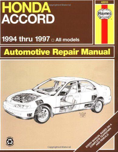 honda accord automotive repair manual models covered all honda rh pinterest com Owners Manual 2002 Honda F-12X Honda Accord Service Manual