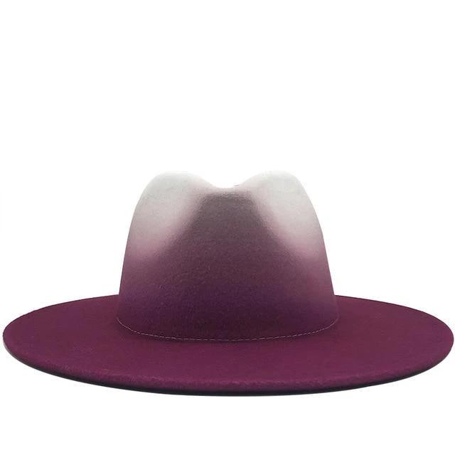 Wool Black Fedora Hat for Unisex Elegant Wide Brim Trilby Hats British Style Winter Vintage