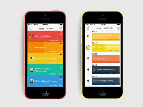 Gorgeous Examples Of Timeline In Mobile Apps Ui Design