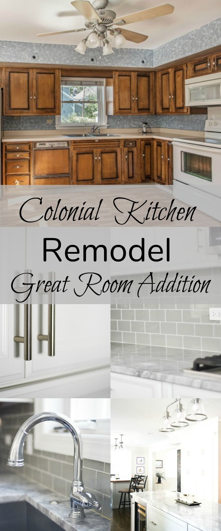 Project Colonial Kitchen And Great Room Remodel Colonial House Remodel Colonial Kitchen Remodel Full House Remodel