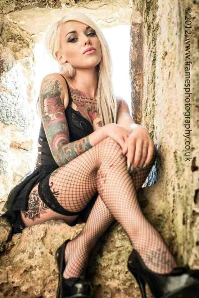 Sexy blonde tattoo