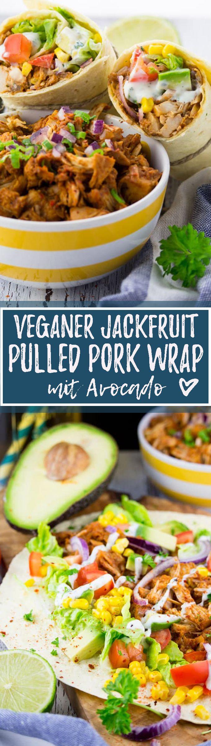 Photo of Veganer Jackfruit Pulled Pork Wrap