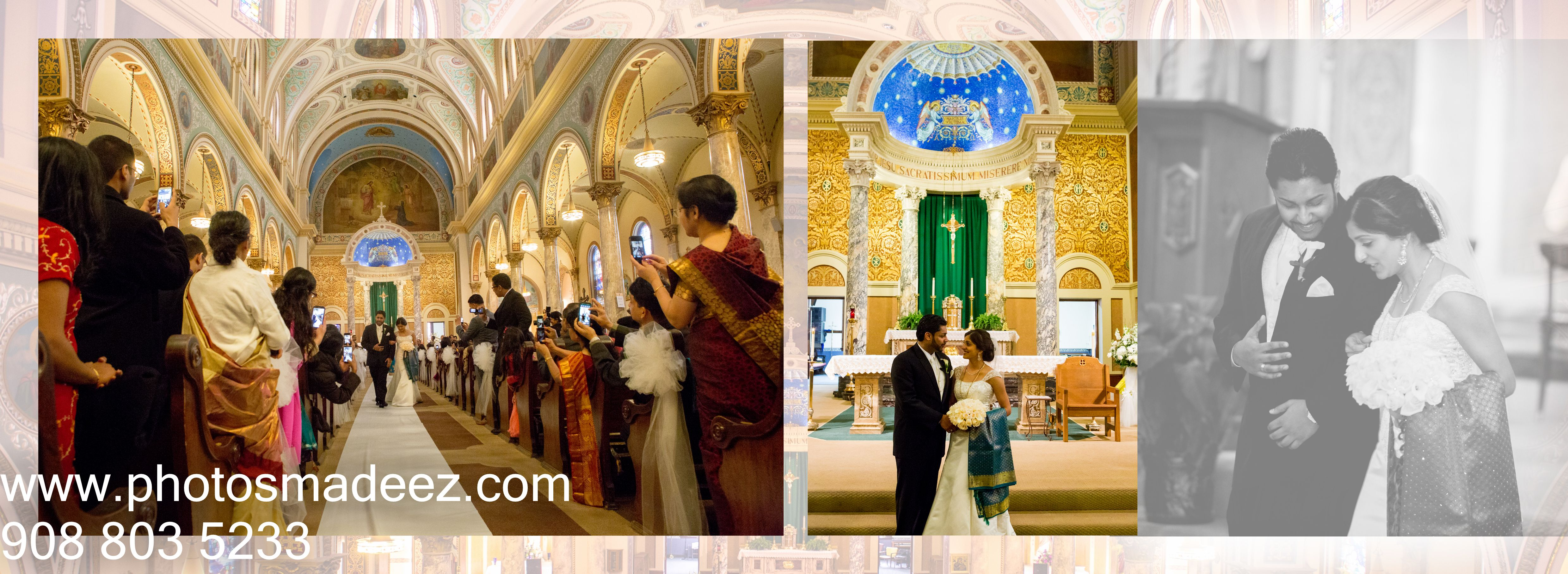 Wedding Album Photo Of Bride And Groom In Malayalee South Indian Christian Ceremony Monastery