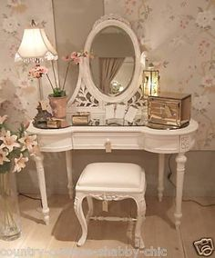 Dressing Room Vanity Table Penteadeira Makeup Storage Mirror Quarto Decorao Home Interior Design Decoration Organization