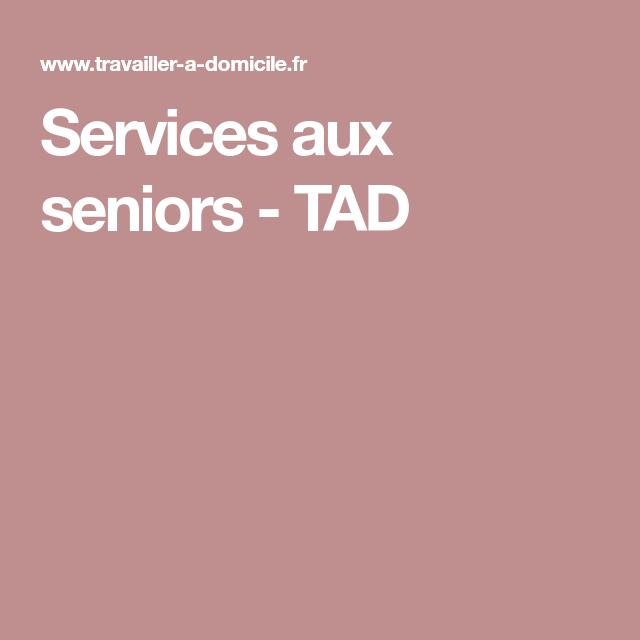 Services Aux Seniors Tad Gagner Des Sous Travail A Domicile