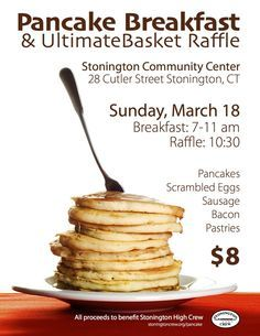 pancake breakfast fundraiser flyer template reunion ideas