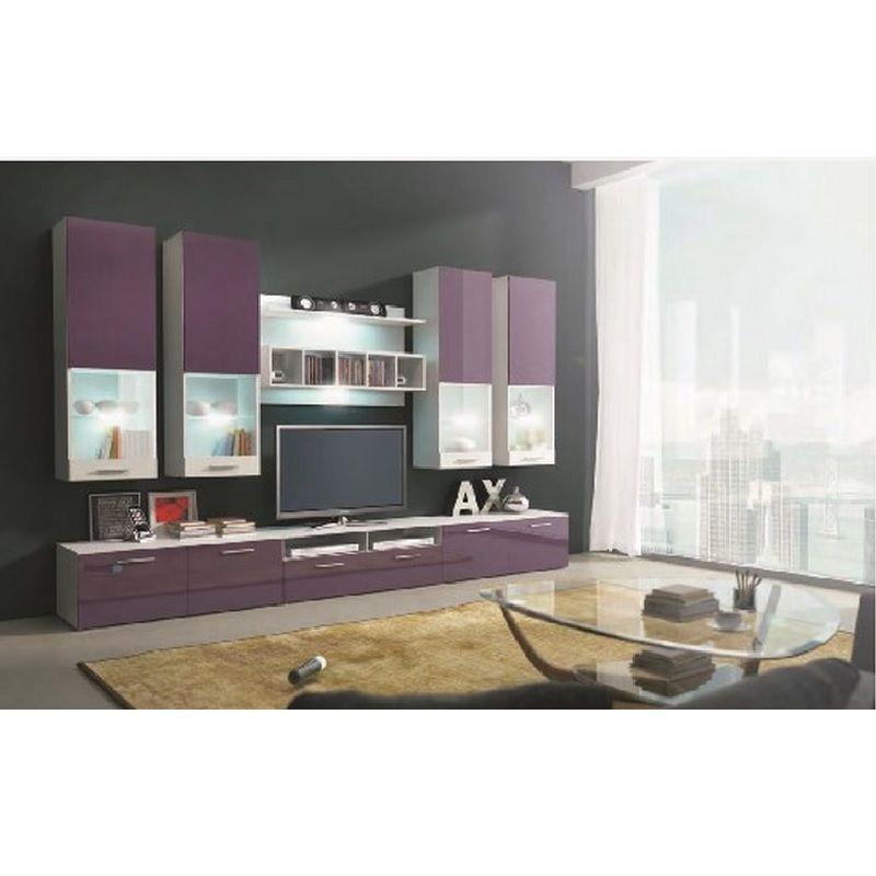 table de tv violet | Accueil Meuble Meuble tv Ensemble meuble TV bas ...