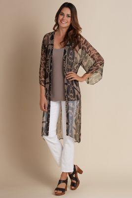 2fd140546e1 Silk Ikat Cardi - Safari Print Cardigan