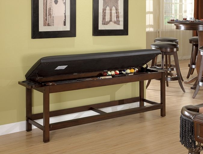 Legacy Clic Storage Bench For Pool Table Accessories