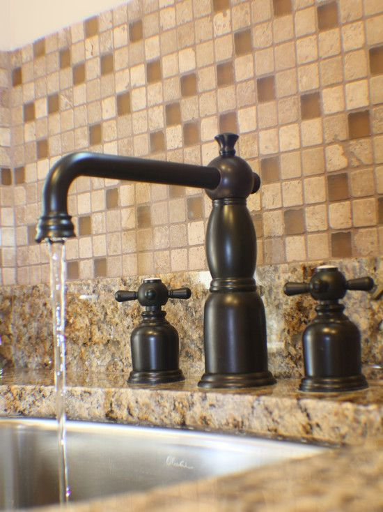Another oil rubbed bronze faucet w undermount stainless for Colored stainless steel sinks