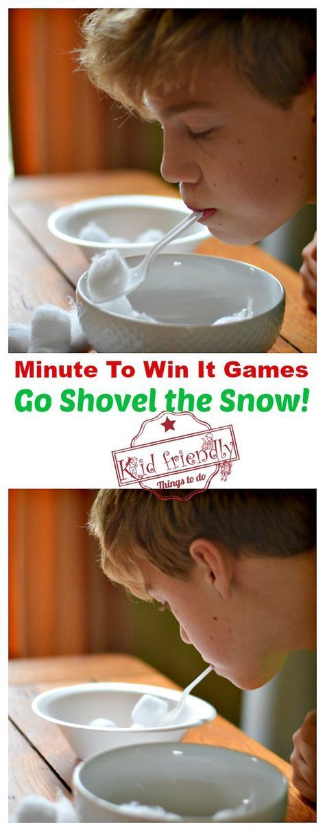 Super Fun Kid Friendly Minute To Win It Games with a Winter and