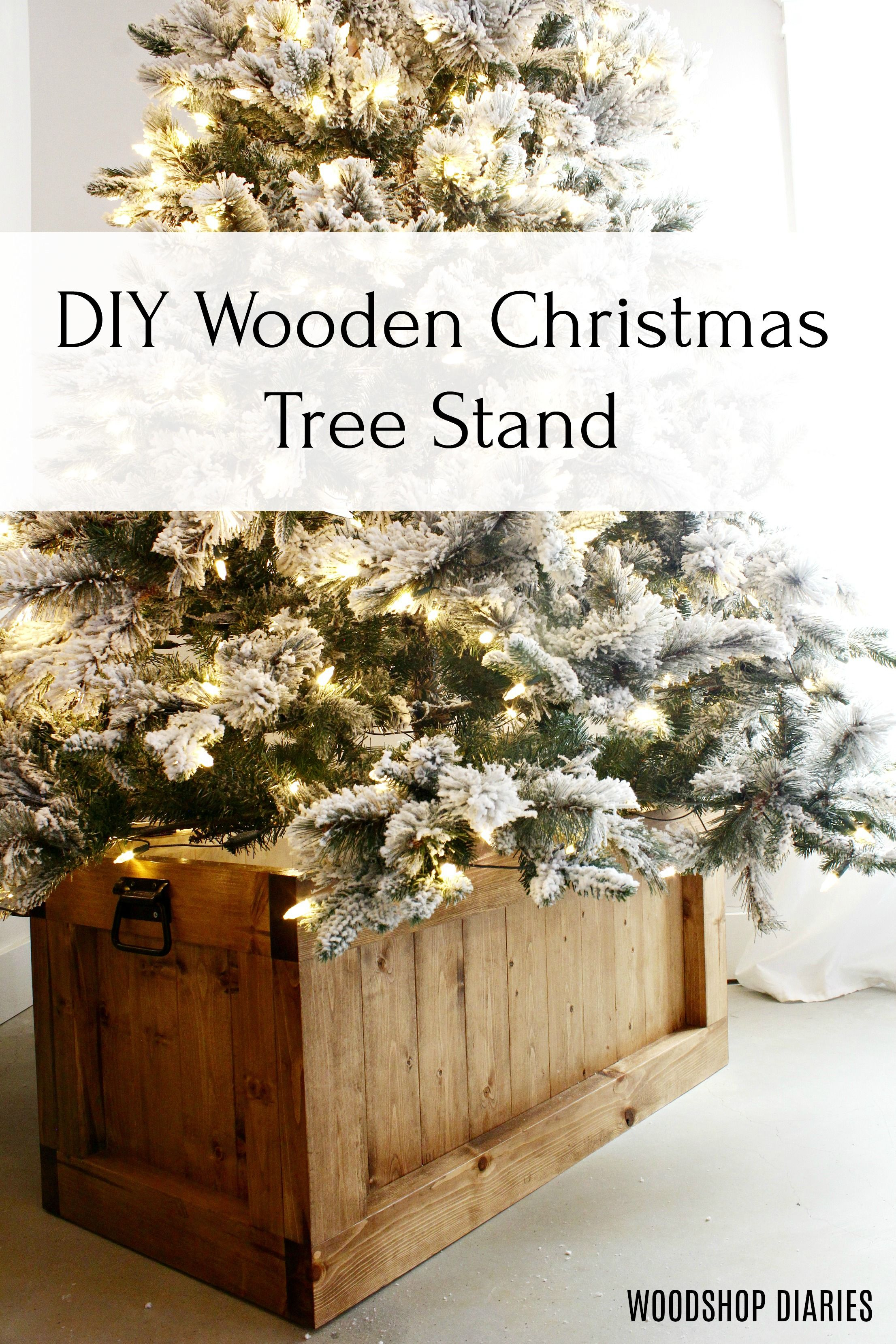 How To Build A Diy Hope Chest In 5 Steps Free Plans In 2020 Christmas Tree Box Wooden Christmas Trees Christmas Tree Box Stand