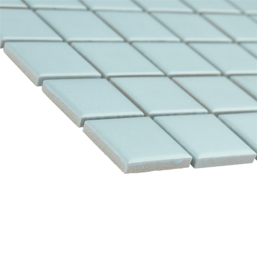 Somer Tile Metro Square Matte Light Blue 11 3 4 X 11 3 4 Porcelain Mosaic Sold Per Case Of 10 9 8 Squ Porcelain Mosaic Porcelain Mosaic Tile Mosaic Tiles