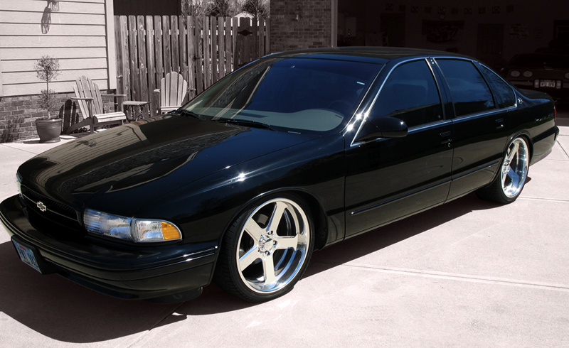 Image result for 96 impala ss on 22s