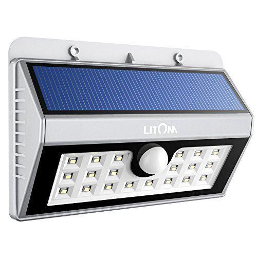 20 Led Lampe Solaire Etanche Litom Lampe Exterieur A Detecteur De
