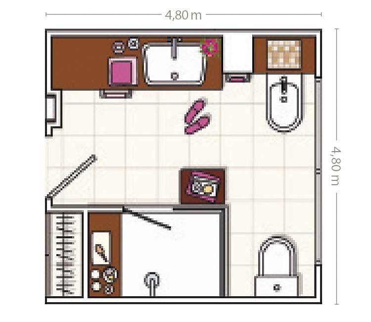 Un baño distribuido a medida | Baños, Duchas y Muebles a ...