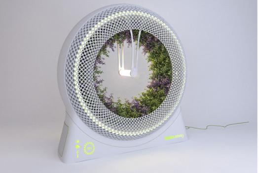 Rotating Indoor Garden Inspired By A NASA Design