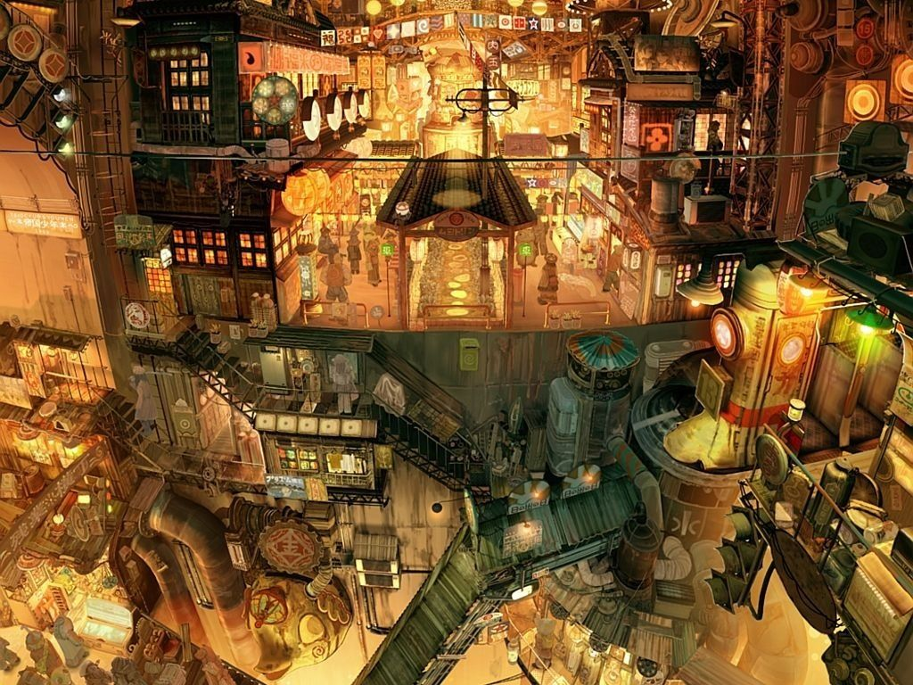 壁紙 2次元の幻想的な風景 夜景の画像part1 アニメの風景 風景