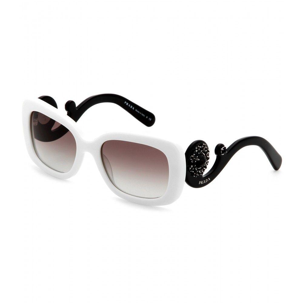 2af2f62277c1 Minimal Baroque Square-Frame Sunglasses ¦ Prada + mytheresa